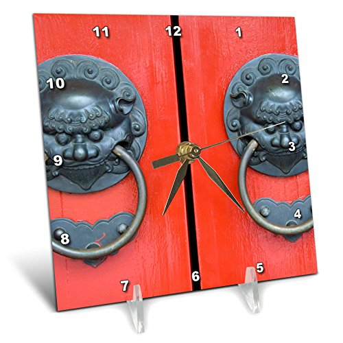 3dRose dc_75513_1 Singapore, Chinatown, Buddha Tooth Relic Temple-AS32 CMI0057-Cindy Miller Hopkins-Desk Clock, 6 by 6-Inch
