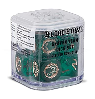 Blood Bowl The Game of Fantasy Football Skaven Team Dice Set (7 Blood Bowl Dice) by Warhammer