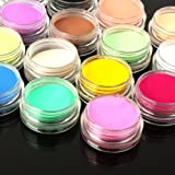 YESURPRISE Fashion 18 Colors Acrylic 3D Nail Art Tips Design Powder Dust UV Gel DIY manicure Design Decoration