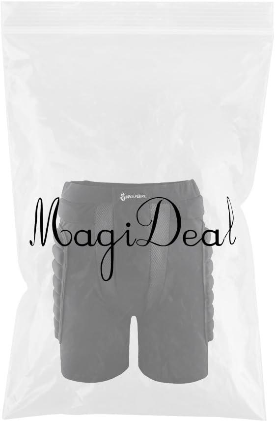 MagiDeal 1x Pantalones Suave C/ómodo El/ástico de EVA Cadera Protecci/ón Pat/ín Esqu/í Patinaje Snowboard Skate