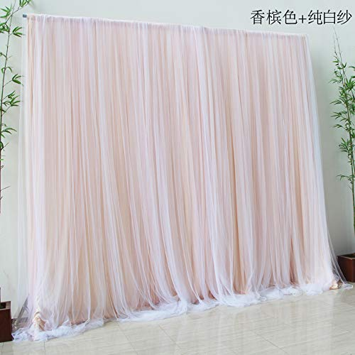 13' Wide x 10' high Indoor Gauze Romantic LED Lights with Double Layers Party Backdrop Window -