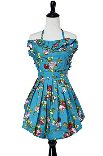 Simply Savvy Co Sweetheart MadeinUSA Vintage Retro Apron Various Prints (Floral)