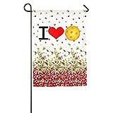 Garden Flag I Love Pickleball Outdoor Flags Design
