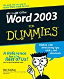 Word 2003 for Dummies®, Dan Gookin, 0764539825