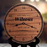 fireplace mantel decorating ideas AndCo 12 Inch Wood Clock, Home Decor for Mantels and Fireplaces Rustic Modern Home Decorating Ideas Living Room Decor Ideas with Fireplace Fresh Retro, Clock Only, Wall Clock