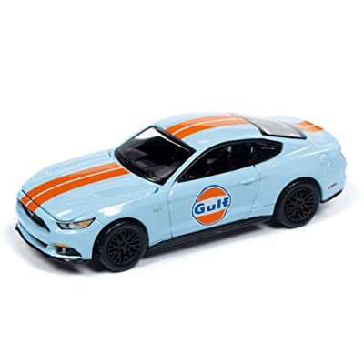 Auto World 2020 Ford Mustang GT, Gulf Oil AW64202/48A - 1/64 Scale Diecast Model Toy Car: Toys & Games