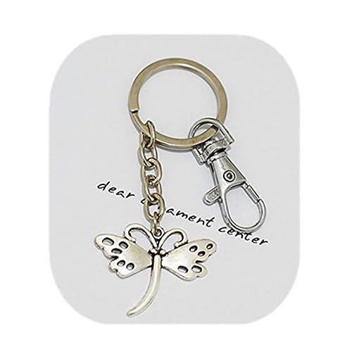 Llavero, diseño de libélula, personalizado collar, libélula ...