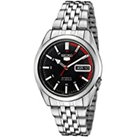 Seiko Men's 5' Japanese Automatic Stainless Steel Casual Watch, Color:Silver-Toned (Model: SNK375K)