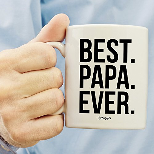 Muggies Best Papa Ever Mug - Christmas/Birthday/Father's Day Gift For Men, Husband, Grandpa & Dad! Coffee Tea 11oz Cup With Woodworking Ebook by Muggies (Image #3)