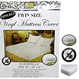 Twin Vinyl Zippered Mattress Cover 100% Waterproof Bed-Bug Proof Dust Protector