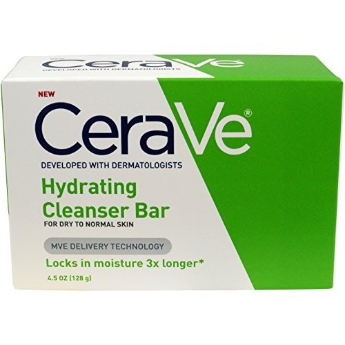 CeraVe Hydrating Cleanser Bar Soap, 4.5 oz - Buy Packs and SAVE (Pack of 4)