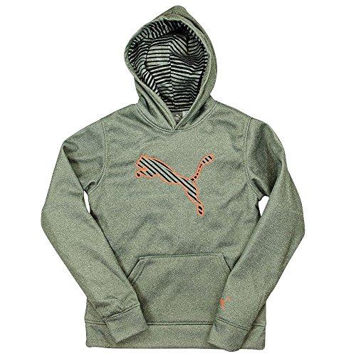 Puma Boys Hoodie Athletic Sweatshirt With Hood Fleece Breathable Gray Small by PUMA