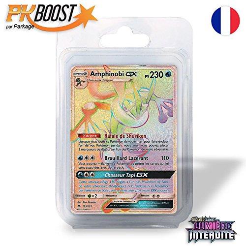 Parkage Coffret PKBoost Secret Rare : Amphinobi GXSL6 Lumière Interdite 230 PV 133/131 - Booster de 12 cartes Pokémon françaises