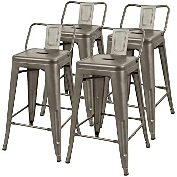 Amazon Com Furmax Metal Stools High Backless Metal Indoor