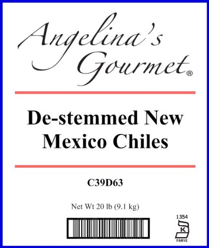 New Mexico Chile, Destemmed - 20 Lb Bag / Box Each