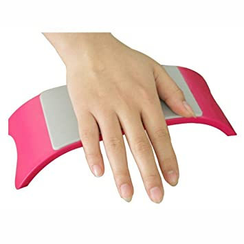 Plástico silicona Nail Art Cojín Almohada mano Holder uñas brazo resto Manicura Herramienta