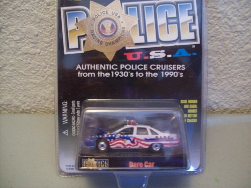 Racing Champions Police USA 1992 Chevy Caprice Dare (Caprice Police Car)