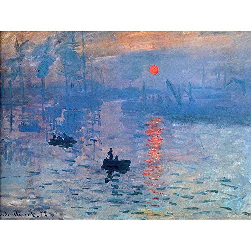 Wee Blue Coo Claude Monet Impression Sunrise Old Master Painting Unframed Wall Art Print Poster Home Decor Premium