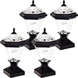 lovely patio design with pavers ideas GreenLighting 4 Pack Adonia Solar Post Cap Light for 4 x 4 Wood Posts (Black)