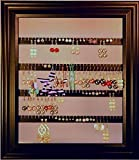 Earring Holder - Holds 75 pair - Made with an 8'' x 10'' Picture Frame - Wall Mounted - Available in 4 Colors – Mahogany (dark reddish brown)
