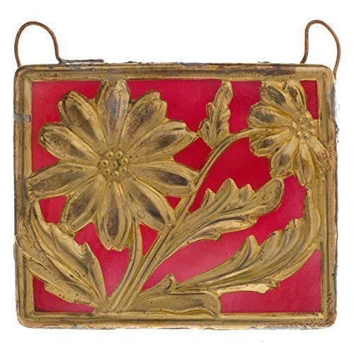 Brass Stamping Red Stained Glass
