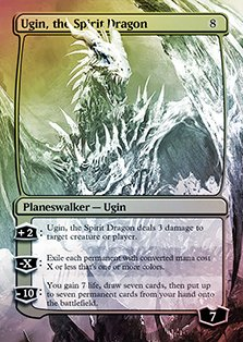 Ugin, the Spirit Dragon - Casual Play Only - Customs Altered Art -