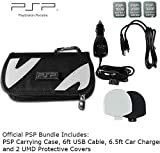Official PSP Bundle with Carrying Case, Silicon UMD Covers, Micro USB Cable + Car Charger [for PSP-1000, PSP-2000, PSP-3000][Bulk Packaging]
