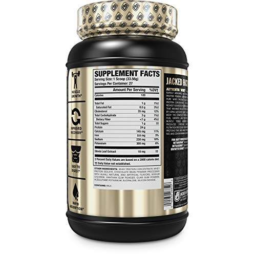 Authentic WHEY Muscle Building Whey Protein Powder - Low Carb, Non-GMO, No Fillers, Mixes Perfectly - Delicious Salted Chocolate Carmel Flavor - 2LB Tub