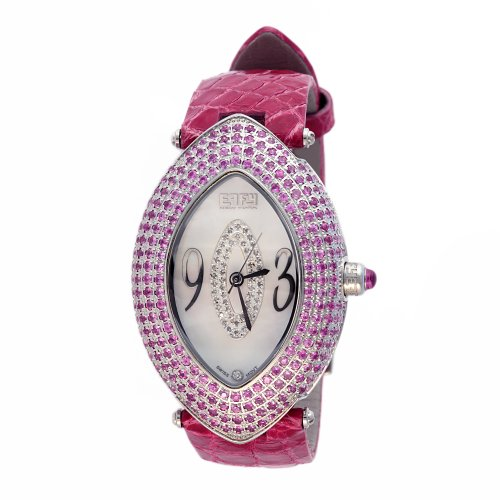 Effy Empire Diamond/Pink Sapphire 4.55 Tcw. Mother-of-Pearl Dial Ladies Watch - Effy Watch