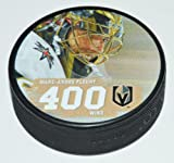 The Hockey Company 2018 GOLDEN KNIGHTS FLEURY 400 WINS PUCK IN ACRYLIC DISPLAY CASE LIMITED EDITION STANLEY CUPPRE-ORDER ITEM - SHIPPING BEGINS ON JULY 15TH