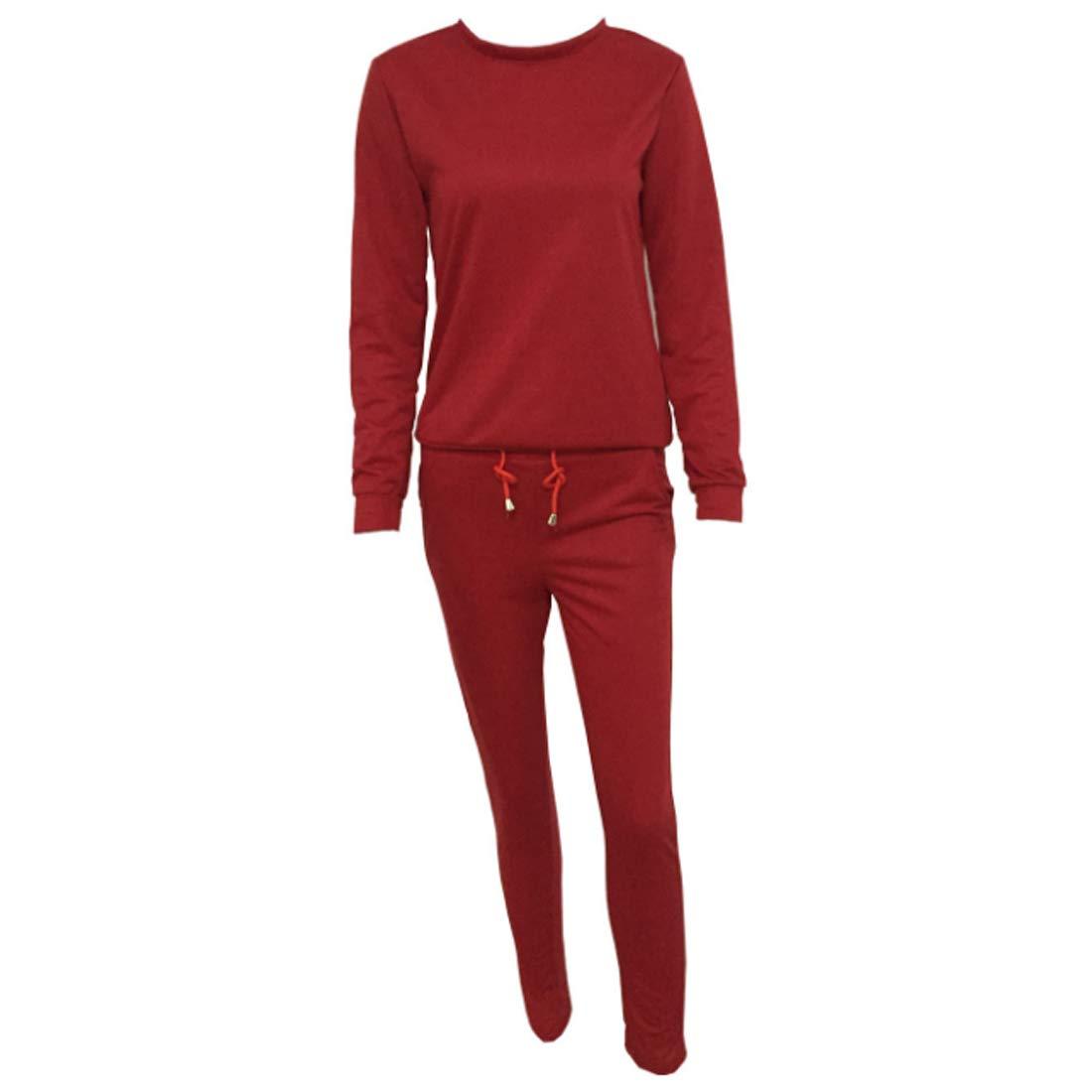 Aiweijia Women's Slim Pullover Jogging Sports Set Casual Wear Aiweijia Co. Ltd