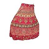 Women's Boho Wrap Around Skirt Tribal Chic Red Printed Beach Wear Wrap Dress Skirt…