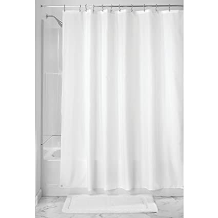 InterDesign Water Resistant Fabric Shower Curtain Liner