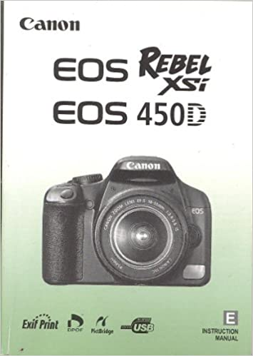 Canon eos rebel x, eos rebel xs instruction manual, user manual.