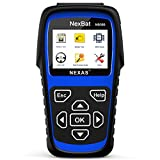 Auto Battery Tester NEXAS NB380 Check 100-2000CCA Battery Testers with BMS Reset / Battery Registration For 12V/24V Motos, Cars, Van, HD Trucks and Marine Boats