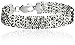 Sterling Silver 12mm Italian Mesh Bracelet