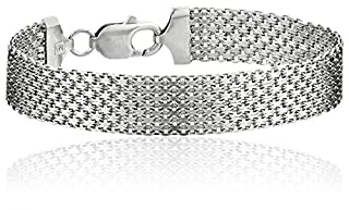 Sterling Silver 12mm Italian Mesh Bracelet (B0009KNC5Q)   Amazon Products
