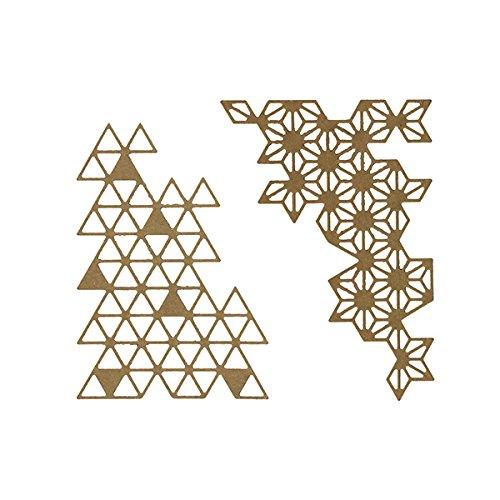 Floril/èges Design fdd11710/Strumenti di Taglio Punta Geometrici Metallo Grigio 11,5/x 12,5/x 0,2/cm