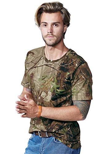 Code Five Men's 100% Ringspun Cotton Licensed Realtree Camouflage Crew Neck Short Sleeve Tee