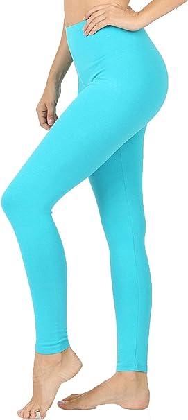 SbS Mallas de algodón Suave de Cintura Alta para Mujer, Pantalones ...
