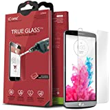 iCarez [Tempered Glass] Screen Protector for LG G3 Easy Install with Lifetime Replacement Warranty [1-Pack,0.3mm 2.5D 9H] - Retail Packaging