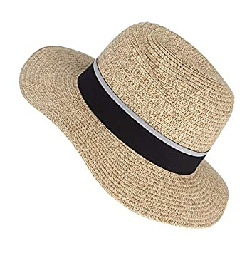 ALWLj Elegant Ladies Church Hats Vortex Panama Soft Sunhats Wide Brim  Summer Sun Hat Cap Beach Hats for Women b539335b6d5