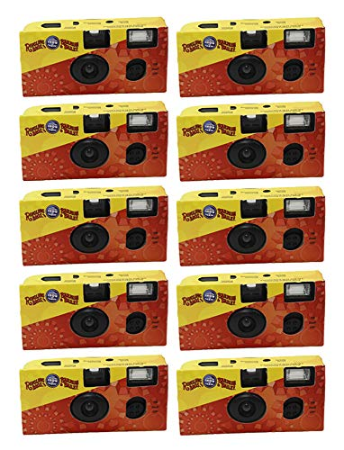 Ringling Bros 35mm Disposable Film Camera Flash 27 Exp ISO 800 Vintage (10 Pack)