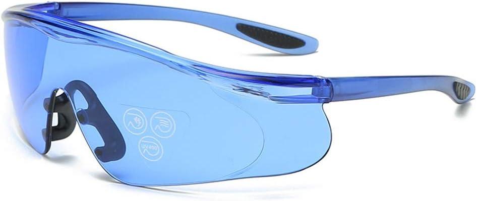 WYDHYQD Anti-Ceniza Multicolor Gafas de Protección for los Ojos claros Gafas de Lentes de Triatlón for Adultos esquí Riding (Color : Blue)