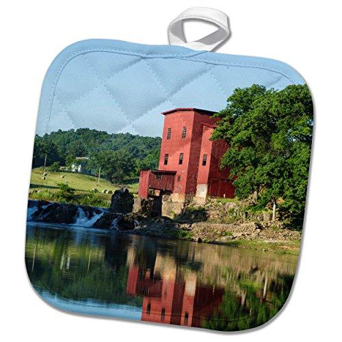 3dRose Danita Delimont - Missouri - Dillard Mill at Dillard Mill State Historic Site, Dillard, Missouri - 8x8 Potholder (phl_279156_1)