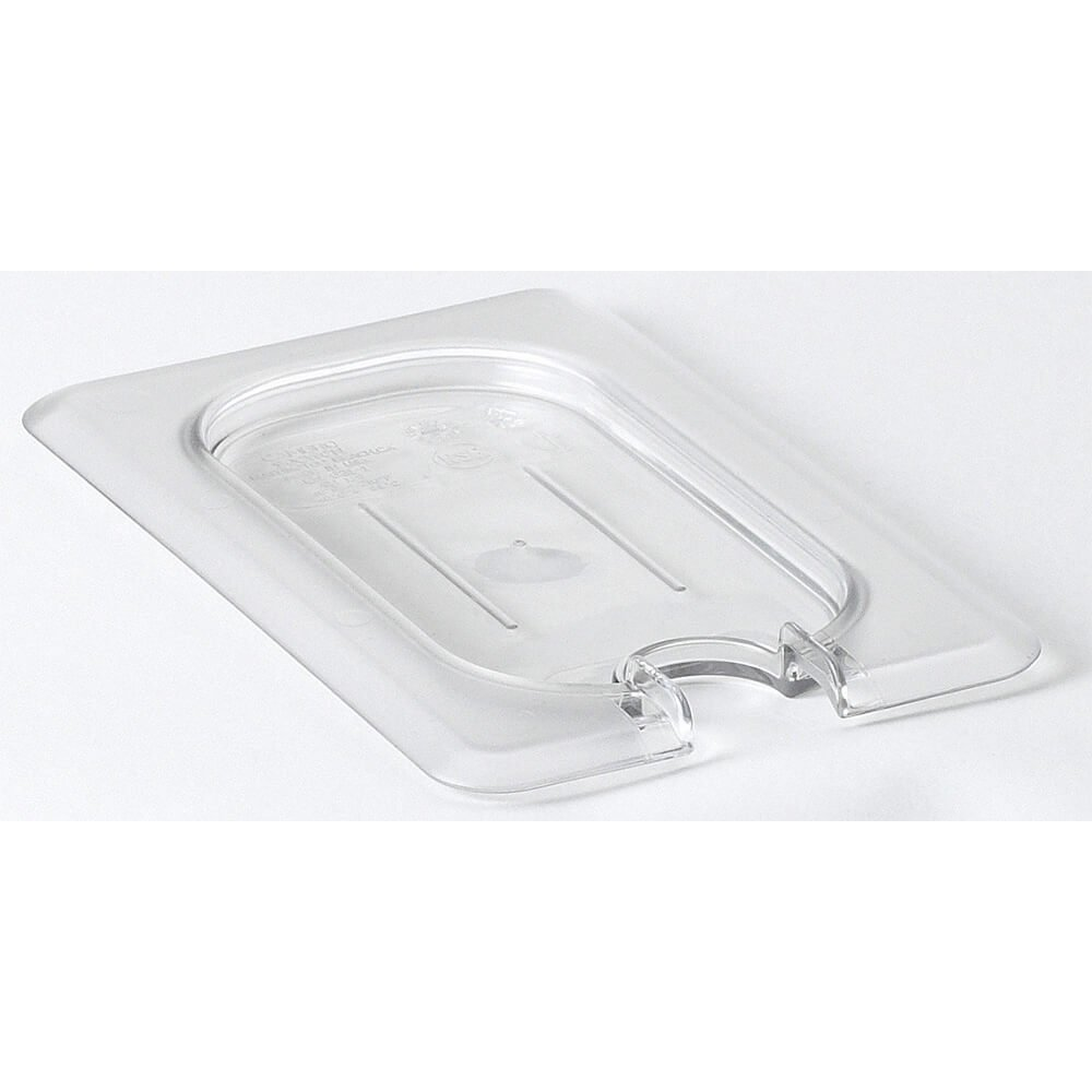 Cambro 1/9 GN Flat Notched Lid, 6PK Clear 90CWCN-135 90CWCN135