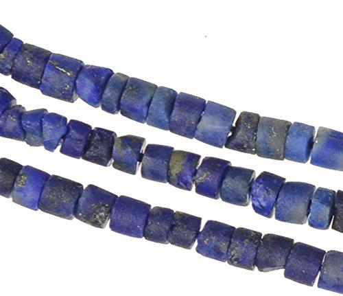 Lapis Lazuli Beads Tube (Lapis Lazuli Tube Heishi Gem Blue Natural Genuine Tiny (2.5mm))