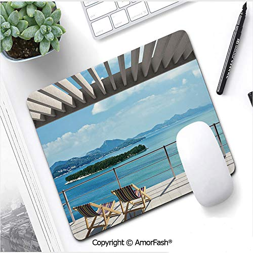Colourful Mouse Pad with Stitched Edge,Premium-Textured Mouse Mat,9.8