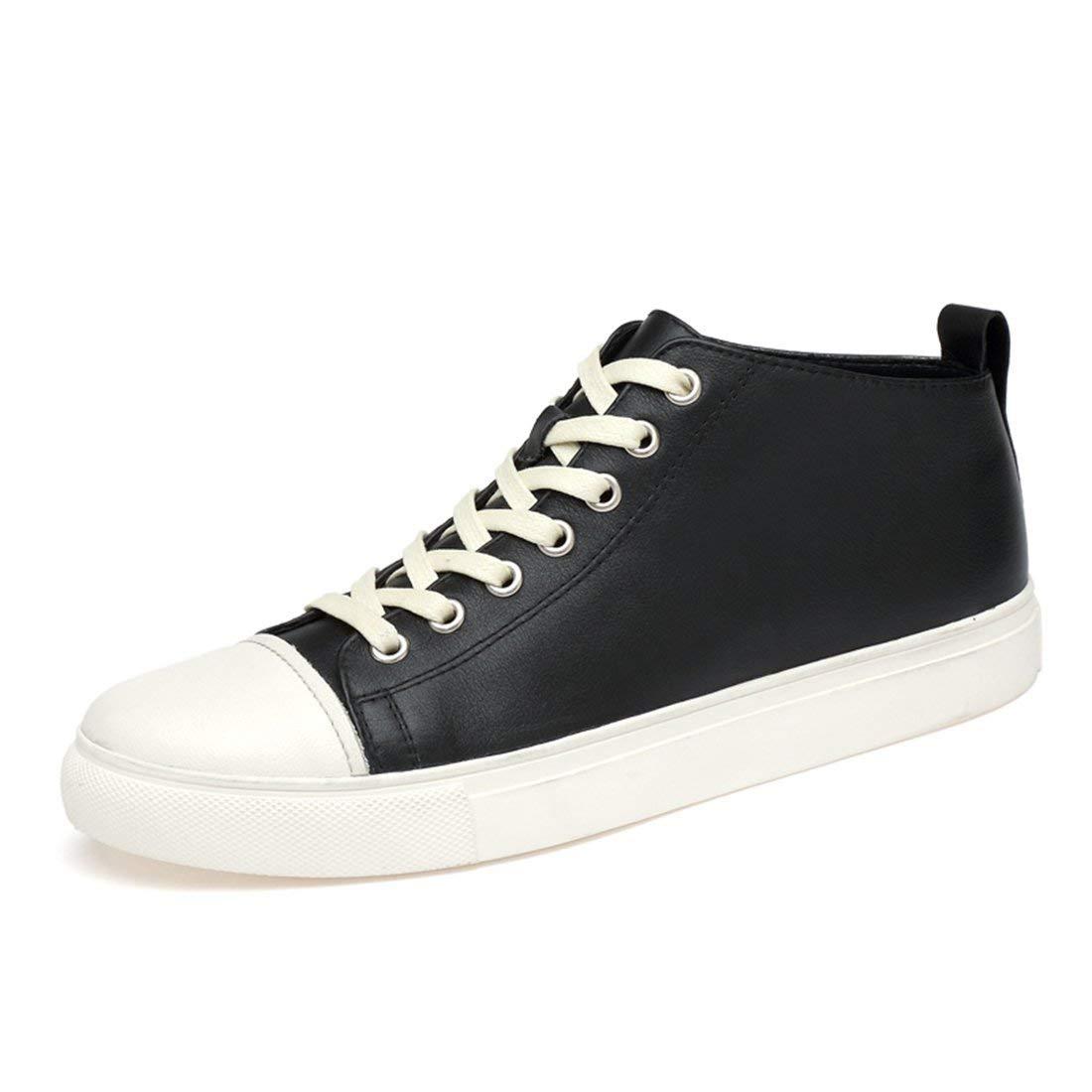Qiusa Herren Lifestyle Outdoor Gummisohle Mode Turnschuhe (Farbe   schwarz Weiß, Größe   7 UK)