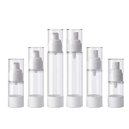 Conjunto De Botellas De Aerosol De Plástico Transparente De 6 Botellas Vacías Y Tapa Del Aerosol